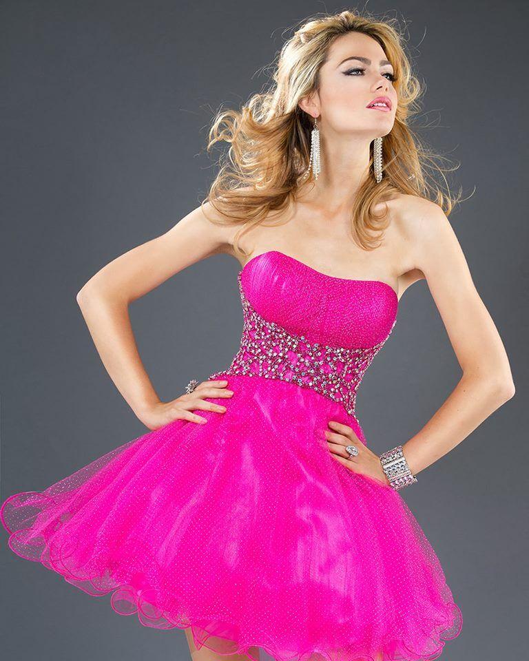Vestido de quince fuxia corto   vestidos   Pinterest   Gowns