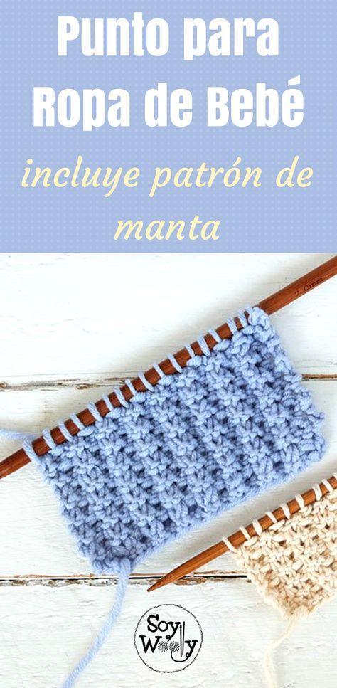 Punto fácil para tejer ropa de bebés en dos agujas | Crochet, Baby ...