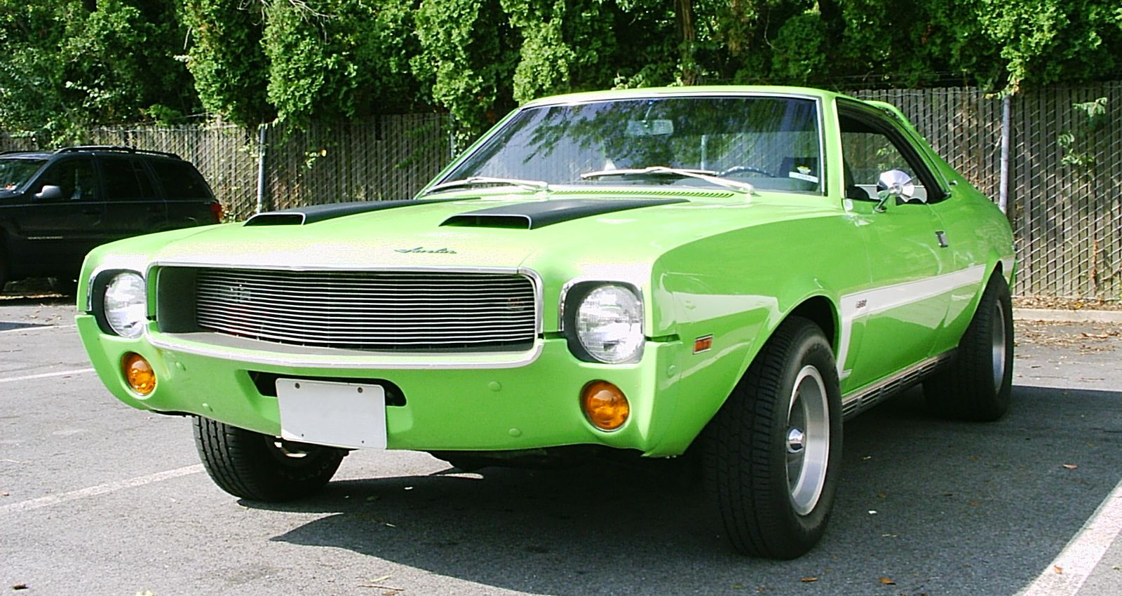 Neon Green 1969 Mod Javelin Customized With A Grille From An Amx