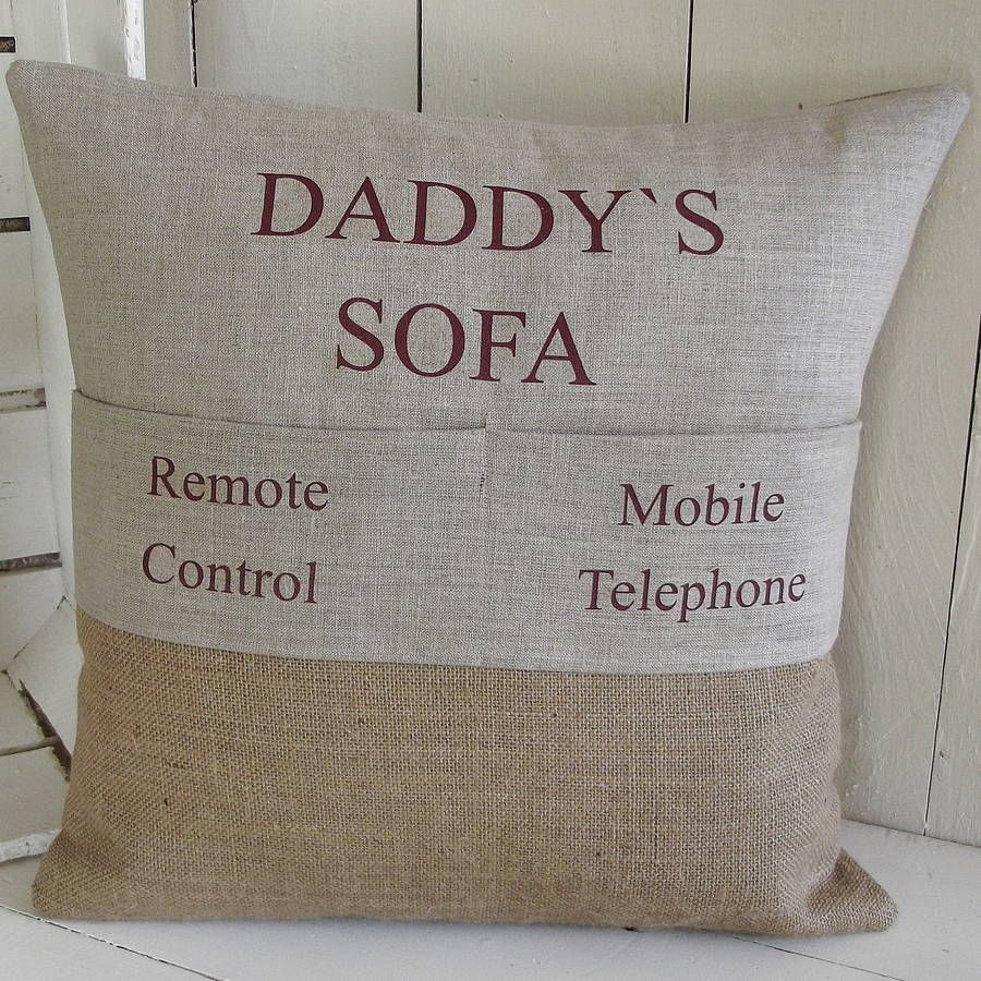 Best Dads get promoted to Grandad Gift Personalised Cream Cushion Father/'s Day