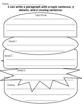 Writing graphic organizer hamburger opening sentence 3 juicy writing graphic organizer hamburger opening sentence 3 juicy details and a closing sentence free ccuart Image collections