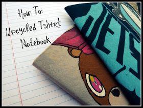 TrashN2Tees: Upcycled Tshirt Notebook Tutorial