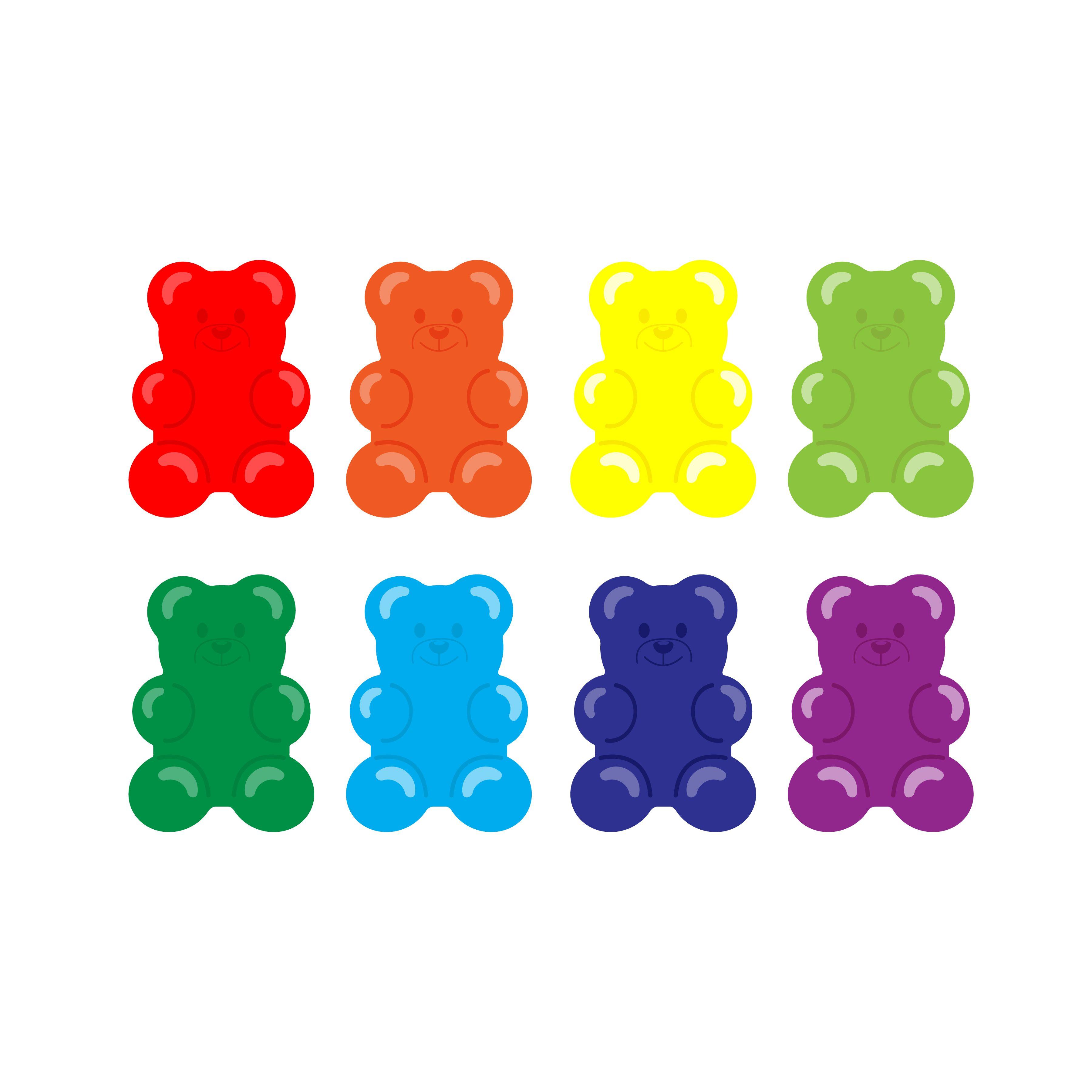 Rainbow Haribo Jelly Bear Gummy Bear 1 Zipped File Including Eps Jpg Png Svg Pdf For Cricut Jelly Bears Gummy Bears Illustration Journal