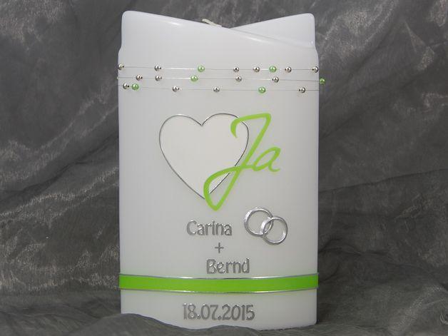 Kerze …   Hochzeitsdeko   Coffee