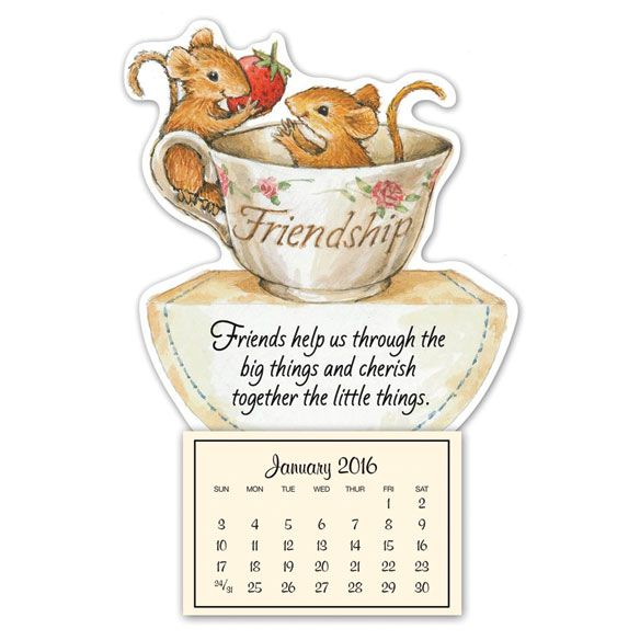 friendship mice mini magnetic calendar magnetic calendar