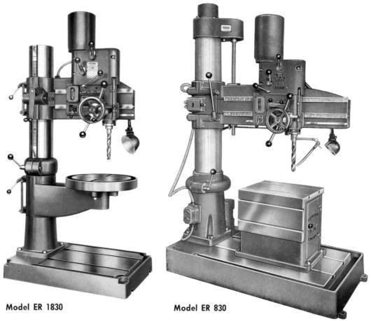 AB ARBOGA MASKINER ER 830 & ER 1830 Radial Drill