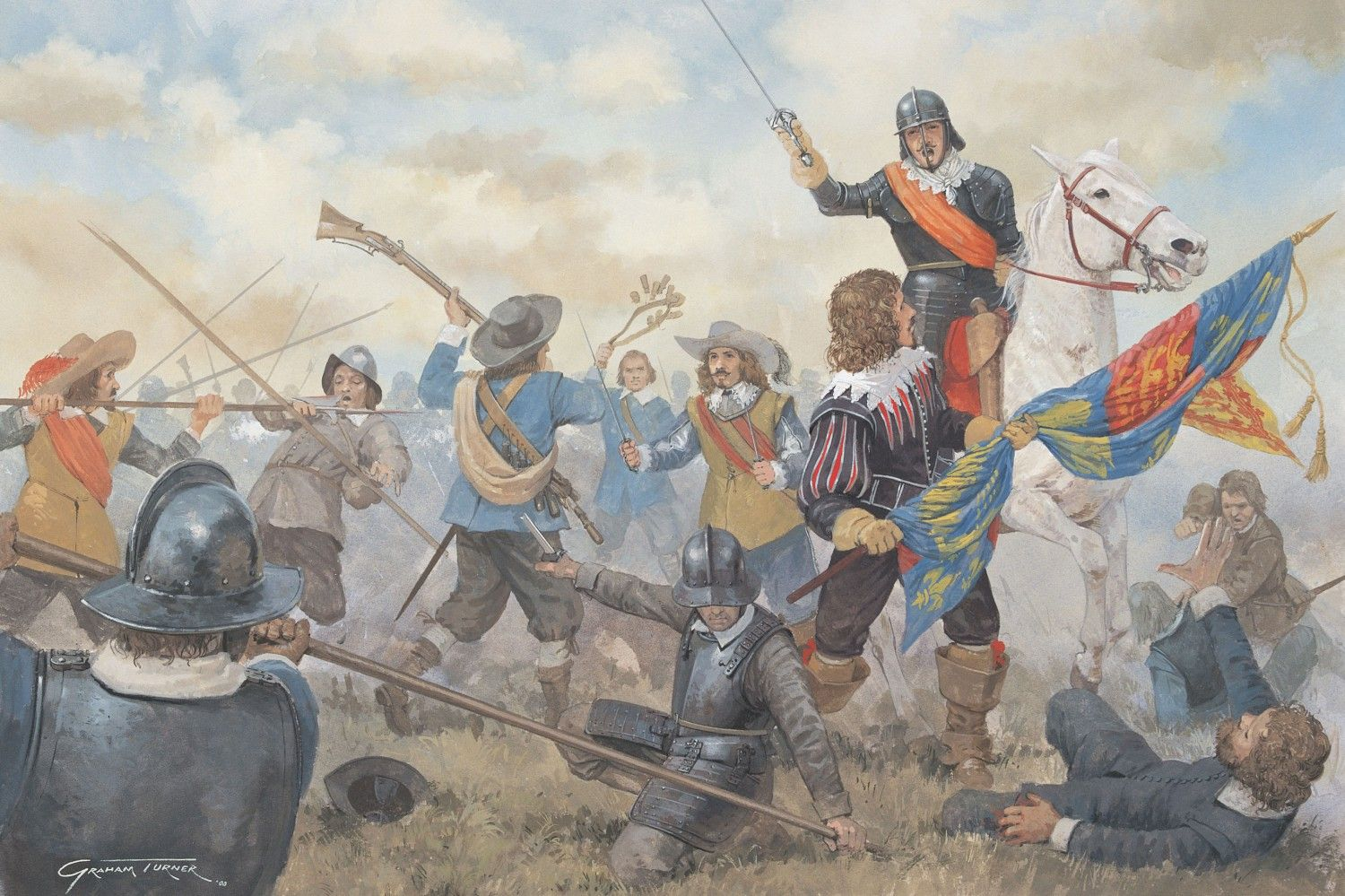 Capture Of The Royal Standard At Edgehill
