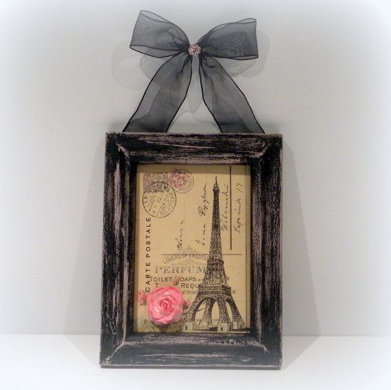 Paris Chic Wall Decor Country French Framed By