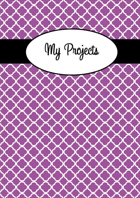 Personalised Printable Binder Cover and Matching Spine, printable - printable cover letter