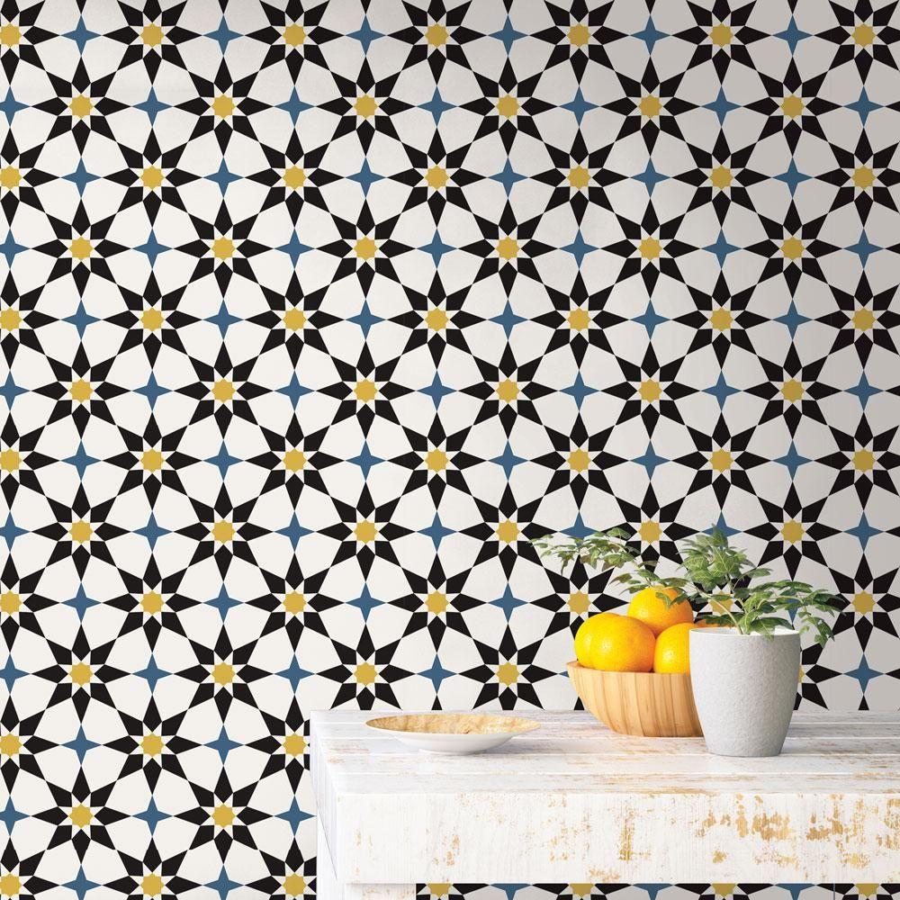 Tempaper Soleil Vinyl Peelable Roll Covers 28 Sq Ft So10570 The Home Depot Peel And Stick Wallpaper Vinyl Tile Removable Wallpaper