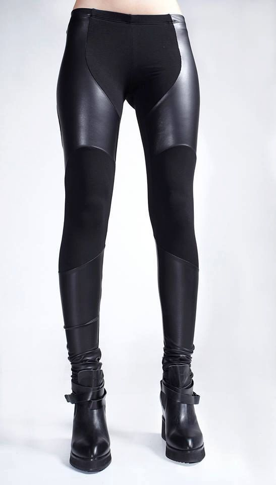 b099ba07a969eb Black Leggings ☆This is a made-to-order piece, sewn especially for you from  high-quality fabrics with the exceptional workmanship of Ralele.