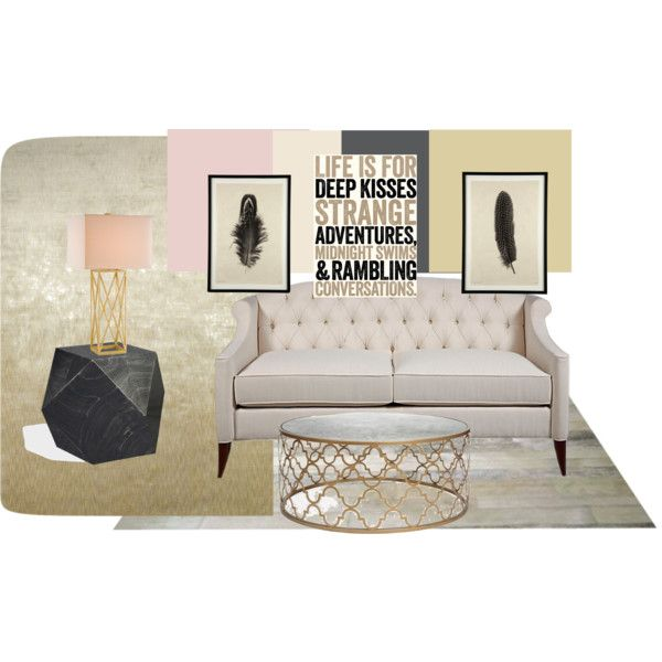 Golds, pinks, and charcoal by anni-bartlett, via Polyvore