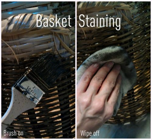 Diy How To Stain A Wicker Basket Better Home Gardens