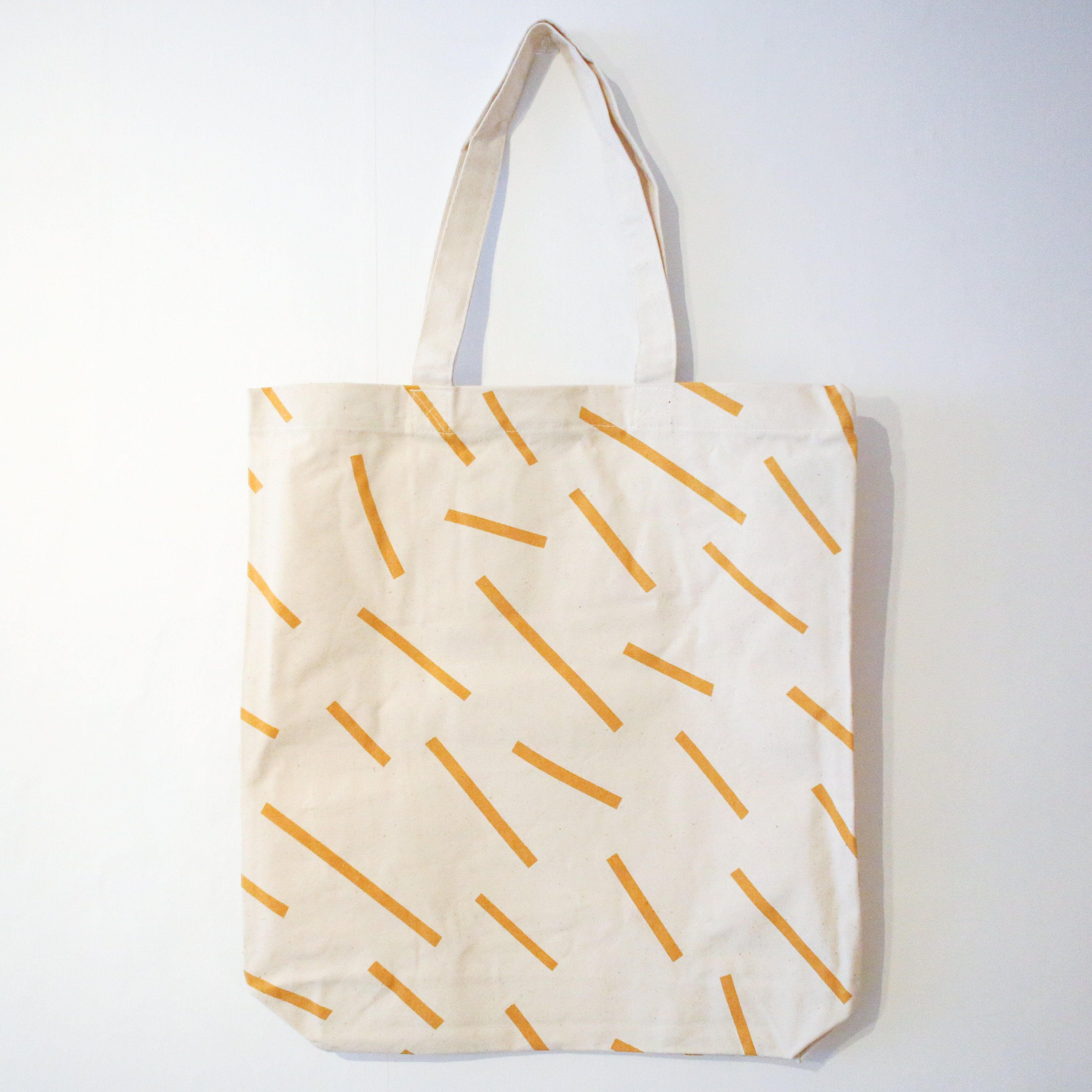 Ochre Lines Canvas Tote Bag Berylune Accessories