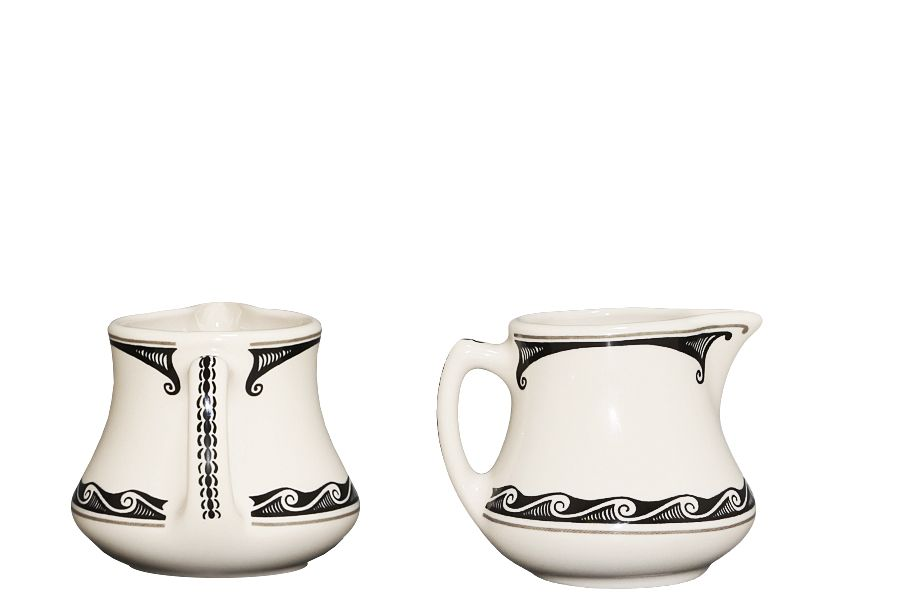 Mimbreño 3oz Creamer (EL Tovar Black) | Native american design ...