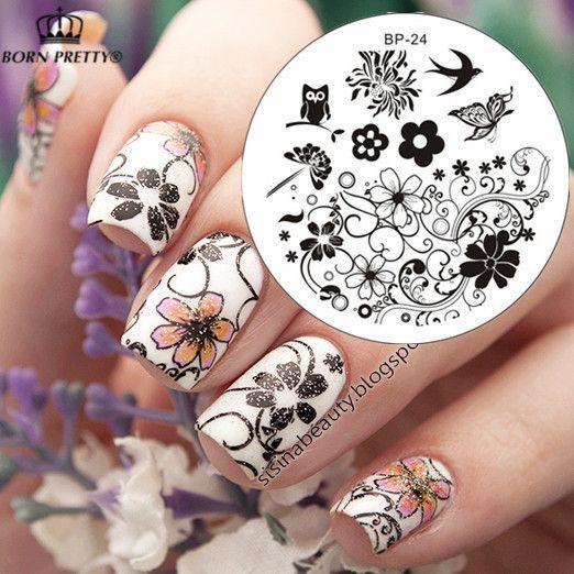 Charming Spring Nail Art Stamp Template Image Plate Nail Stamping - stamp template