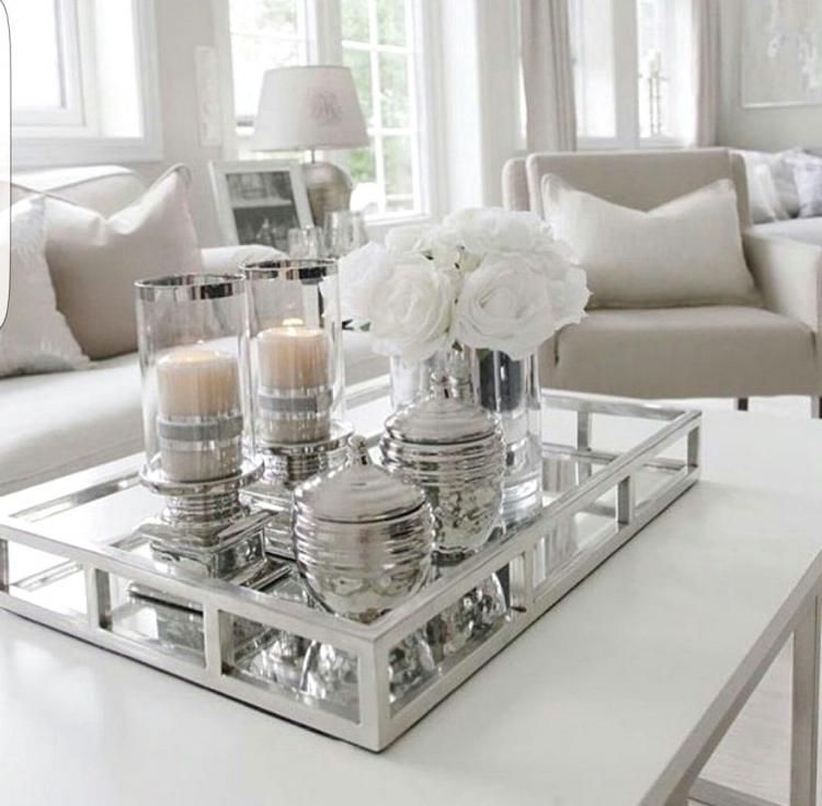 20+ Stunning White Coffe Table Ideas | Table decor living ...