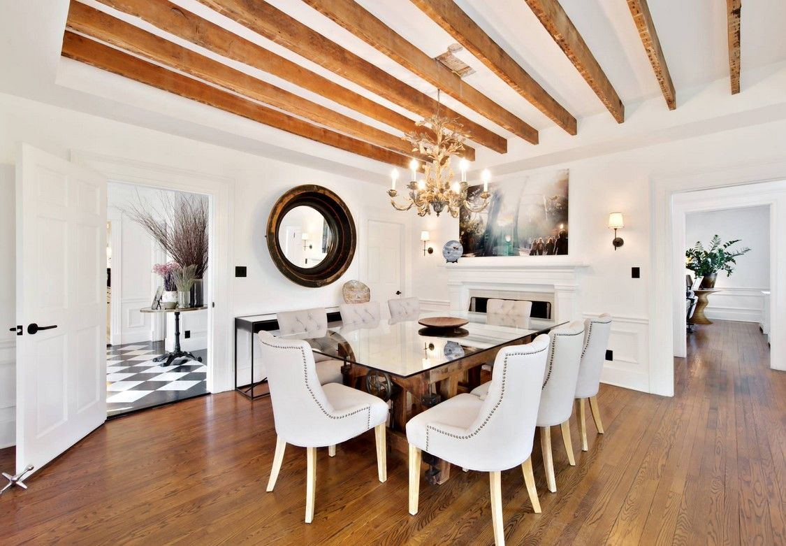 One of those clean and pleasant modern rustic dining rooms everyone