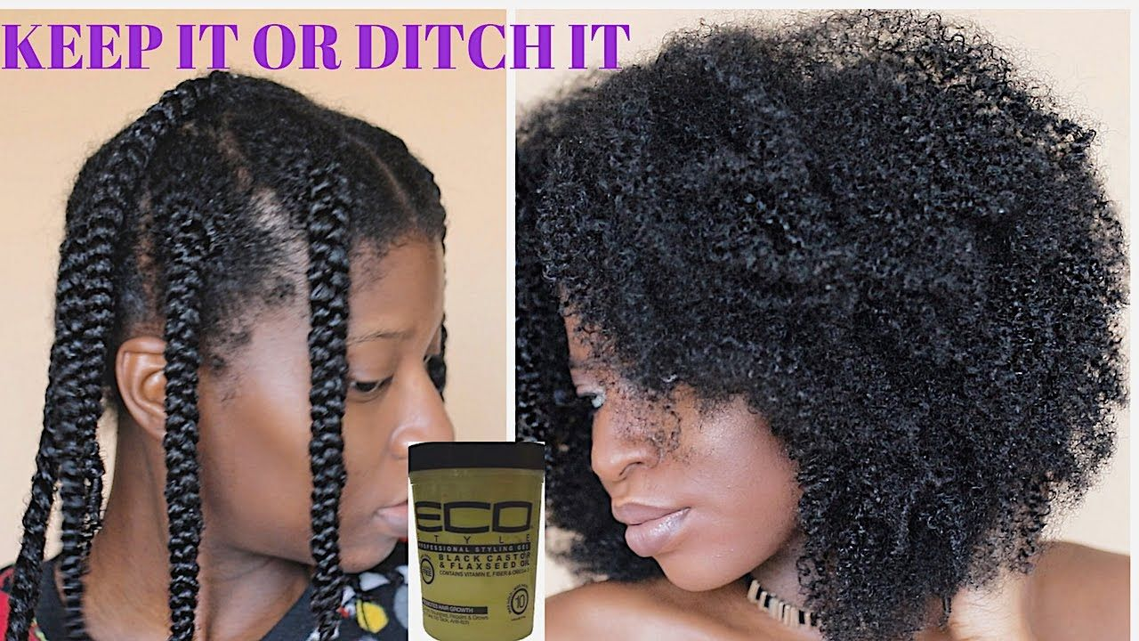 Braidout Using New Eco Styler Black Castor Flaxseed Oil Gel Keep It Natural Hair Styles Natural Hair Braids Braid Out