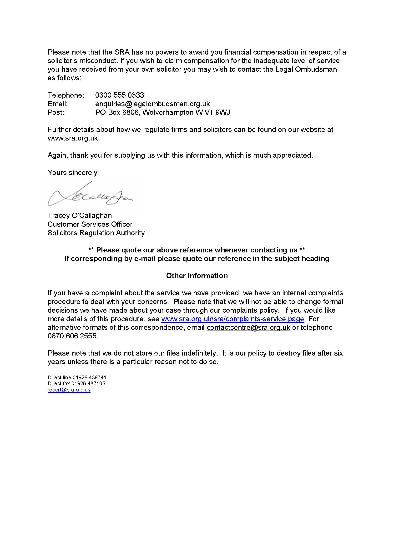 Insurance Claim Acknowledgement Letter Sample Repudiation