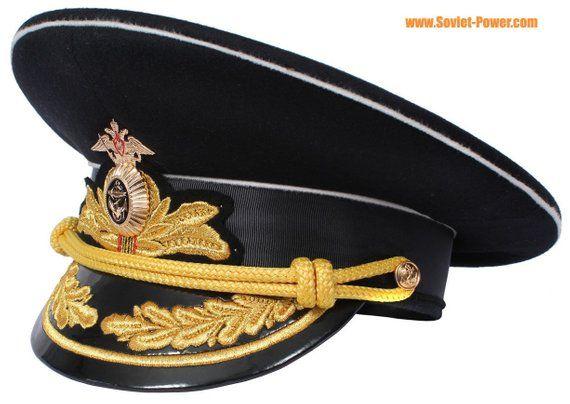 d7adbde831c60 Russian Naval Fleet Admiral hat black visor cap in 2019