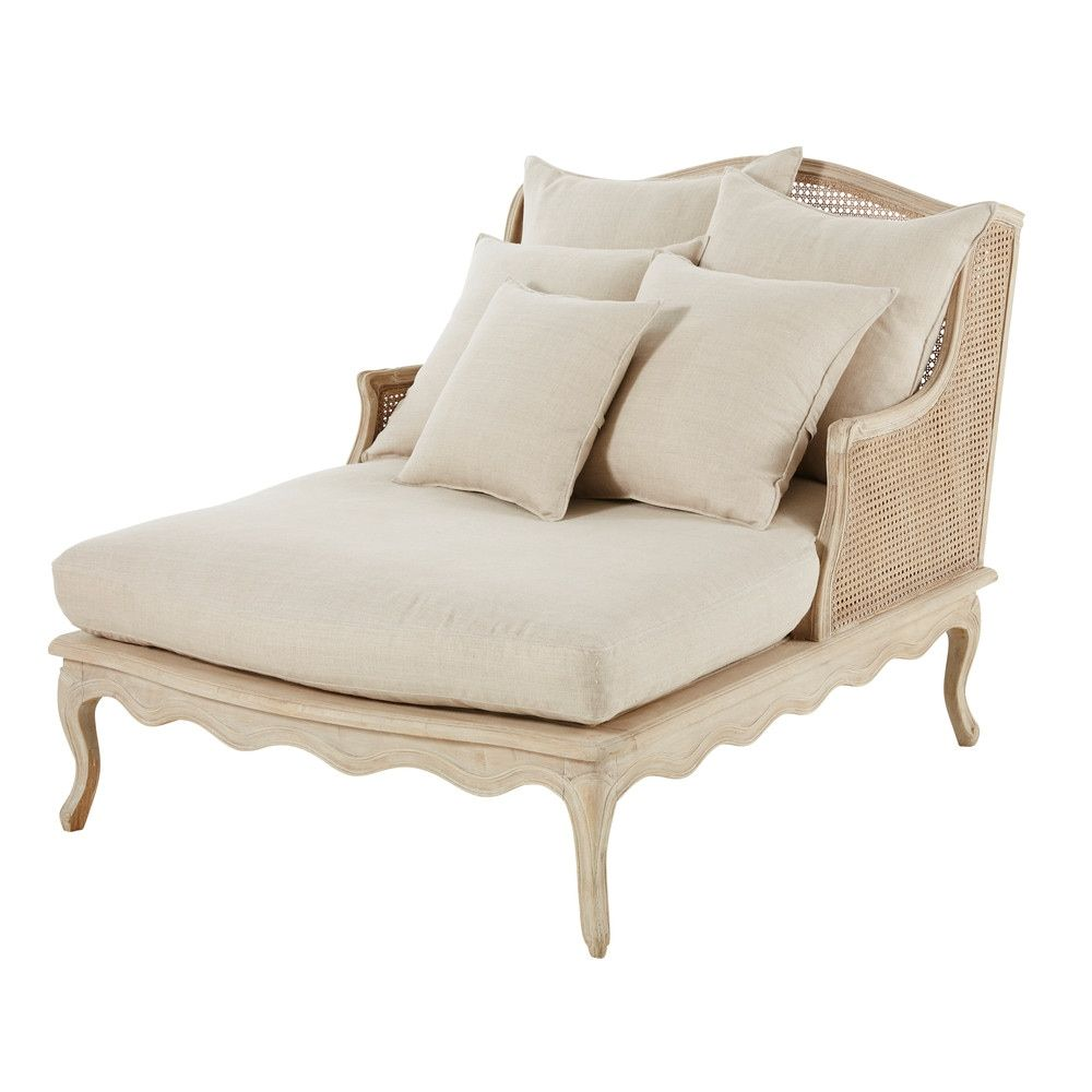 Linen Light Chaise In Grey 2019Furniture And Longue Rattan m8OnNwv0