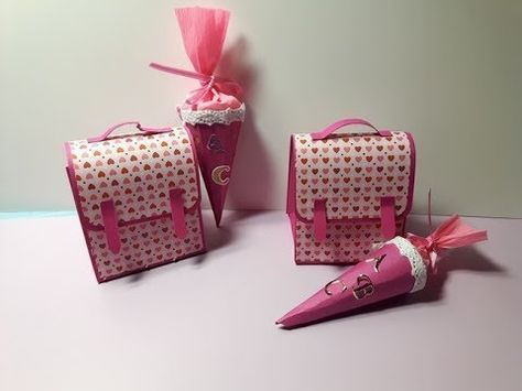 Ranzen und Zuckertüte #konzertkartenverpacken