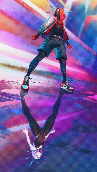 Spiderman Miles Art - IPhone Wallpapers