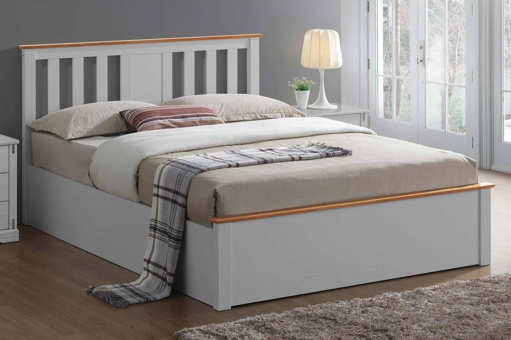 Magnificent Chester Light Grey Oak Ottoman Storage Bed Frame 5Ft Beatyapartments Chair Design Images Beatyapartmentscom