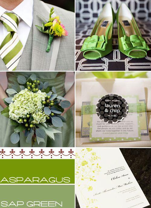 Green wedding themes colourswedding colour palette Green