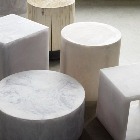 Resin side tables by Martha Sturdy