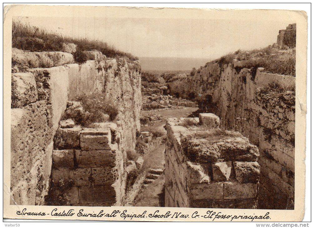 1930 italia cartolina Siracusa Castello Eurialo