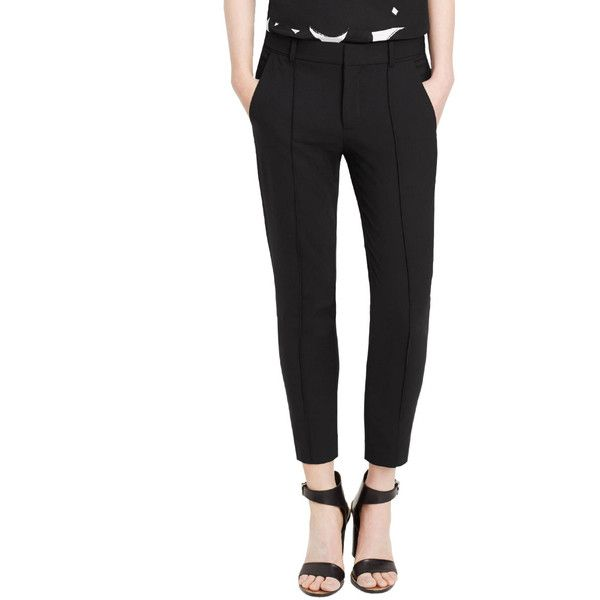 Vince Pintuck Side Tab Trouser ($295) ❤ liked on Polyvore