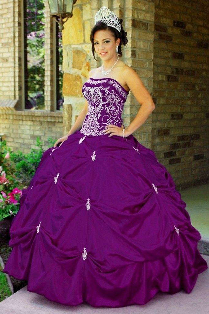 vestidos de xv años modernos morado | Vestido para XV | Pinterest ...
