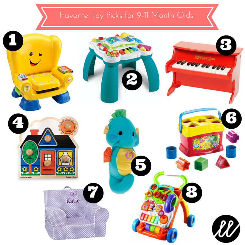 January Favorites Toy Picks For 9 11 Month Olds Little List Baby Play Activities 12 Month Old Toys Babies First Christmas