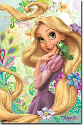 Amazon.com: (22x34) Disney Princess Rapunzel Art Print Poster: Home & Kitchen