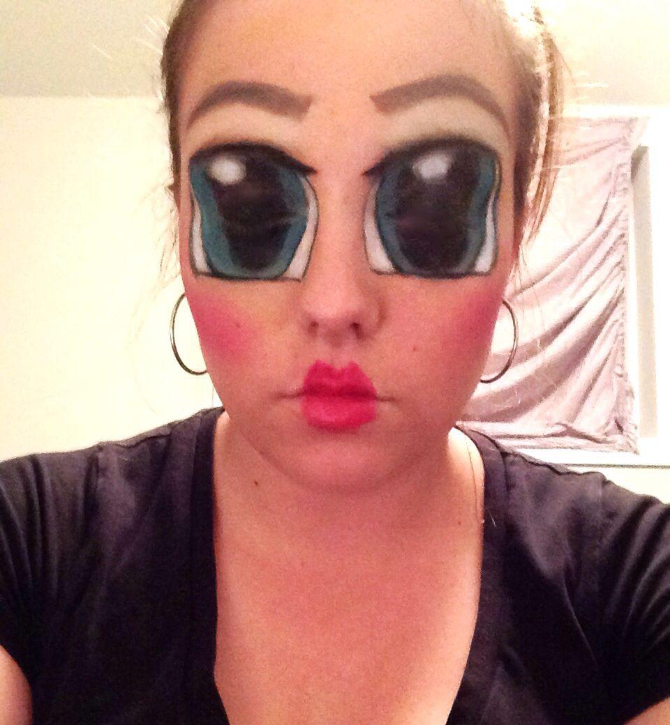 Creepy doll makeup | Holiday~ol\' hallow\'s eve | Pinterest | Creepy ...