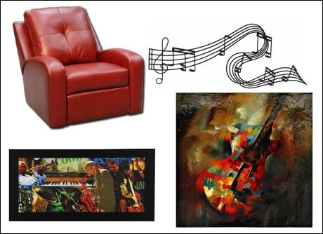 Come into Home Furniture for cool and comfy music room furnishings