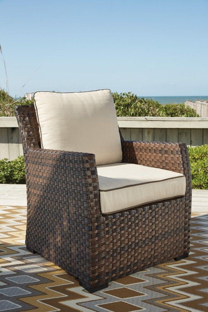 Salceda - Beige/Brown - Lounge Chair w/Cushion (1/CN)