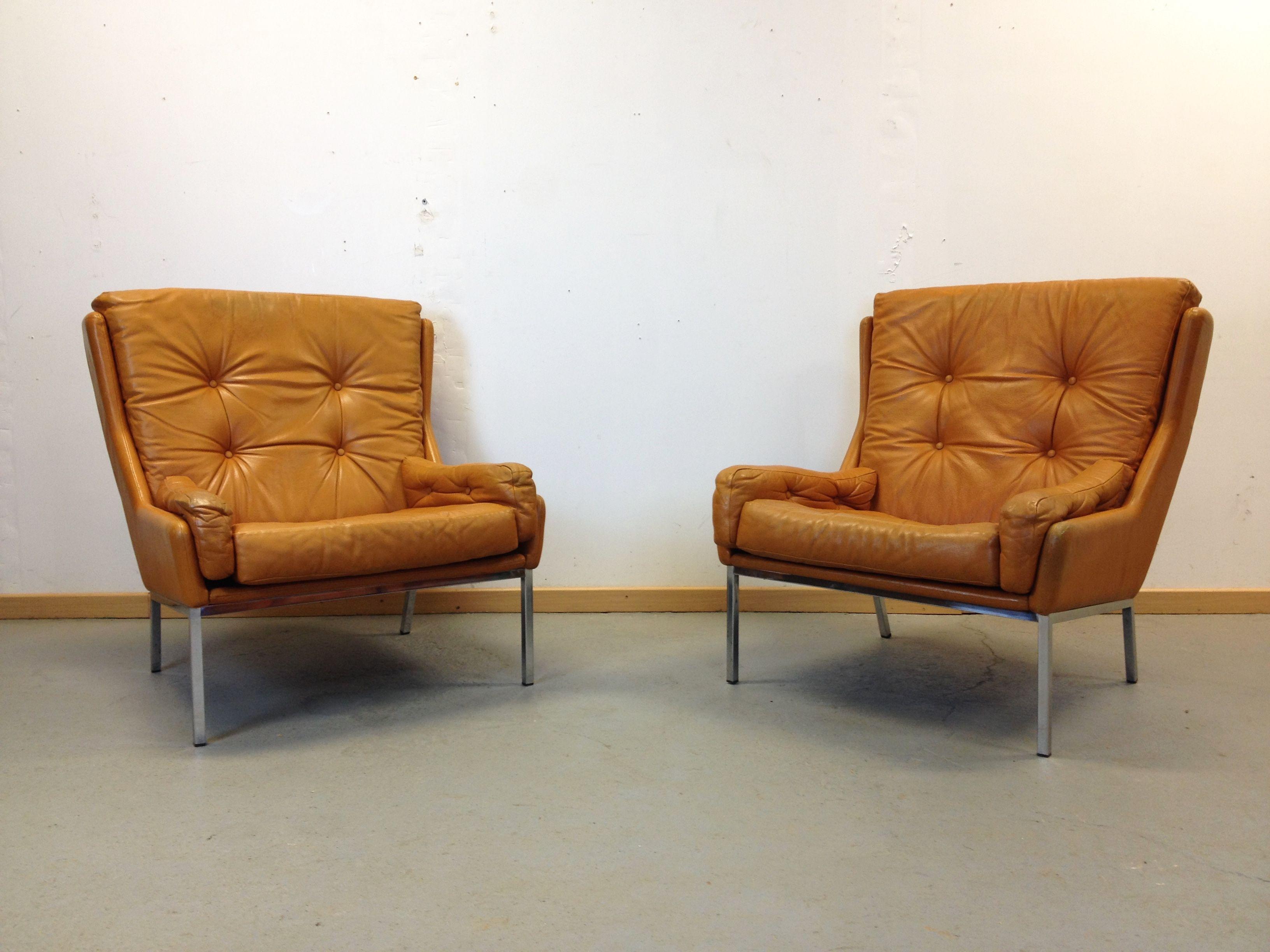 magnifique fauteuil scandinave cuir