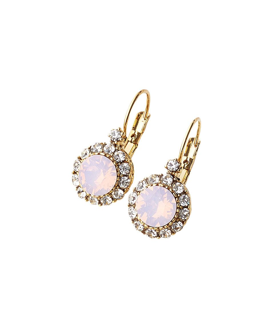 Look what I found on #zulily! Light Pink Swarovski® Crystal Mixed Stone Drop Earrings by The Paisley Box #zulilyfinds