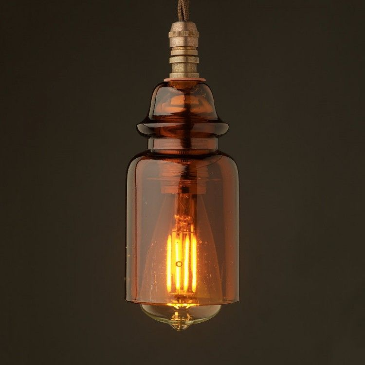 Insulator-No430-Amber-240V-E14-pendant-light-LED-3-Watt