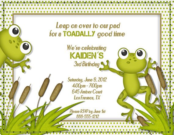 Cute frog birthday invitation frog birthday party ideas cute frog birthday invitation filmwisefo Images