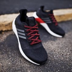 uk availability 224b3 94253 Adidas Ultra Boost ST: Black/Red | Shoes & Stuffs in 2019 ...
