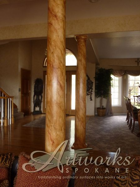 Custom Painted Quot Marble Quot Columns Faux Painting Marble