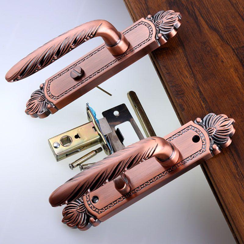Bathroom Door Lock Kitchen Aisle Solid Wooden Door Single Tongue Handle Lock Without Key 110mm Antique Copper A Wooden Doors Bathroom Door Locks Bathroom Doors