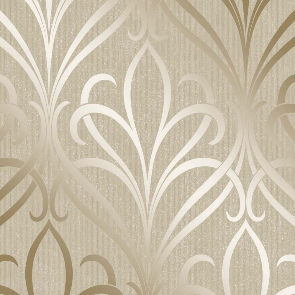 living room wall stencils uk decorative chairs henderson interiors camden damask wallpaper cream / gold ...