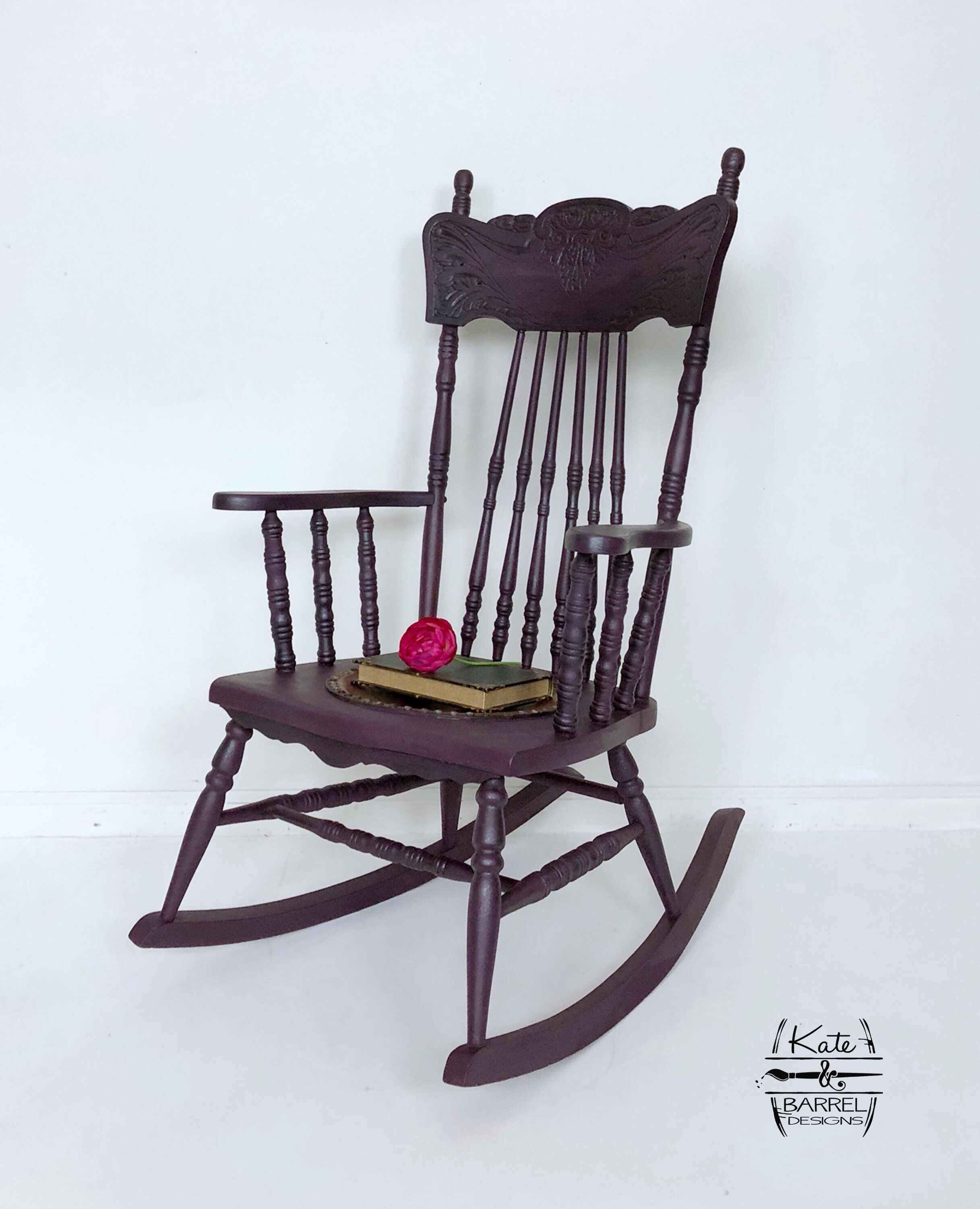 Strange Vintage Black Cherry Rocking Chair In 2019 Painting Ideas Gmtry Best Dining Table And Chair Ideas Images Gmtryco