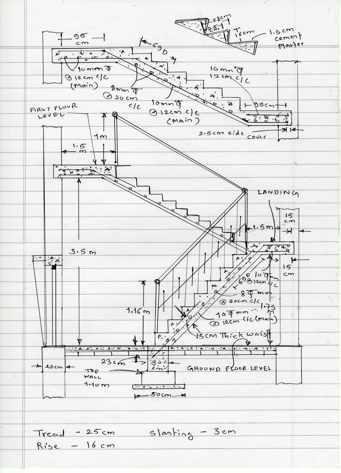 Civil At Work How To Calculate Staircase Concrete Quantity Staircase Design Modern Elevator Design Concrete Staircase