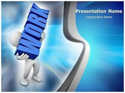 Workplace Work Load Powerpoint Template is one of the best - nursing powerpoint template